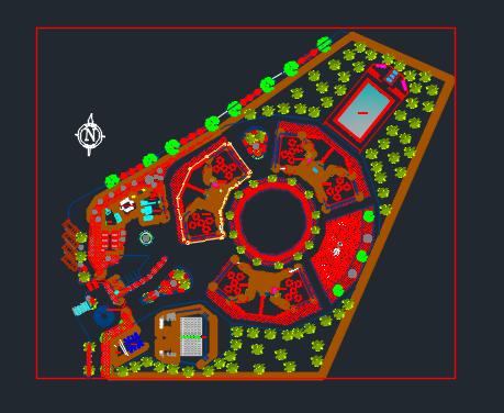 پروژه اتوکد پارک شهر