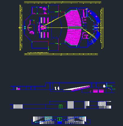 پروژه ی اتوکد آمفی تئاتر