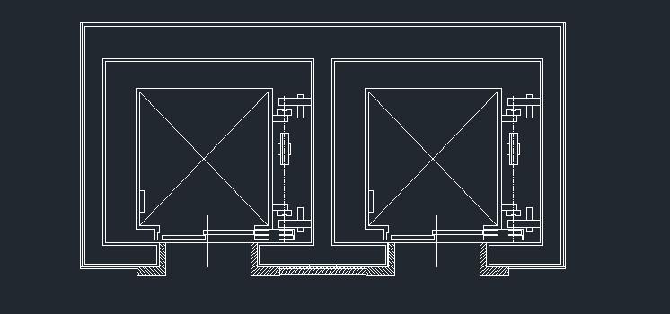 پروژه ی اتوکد دتایل آسانسور