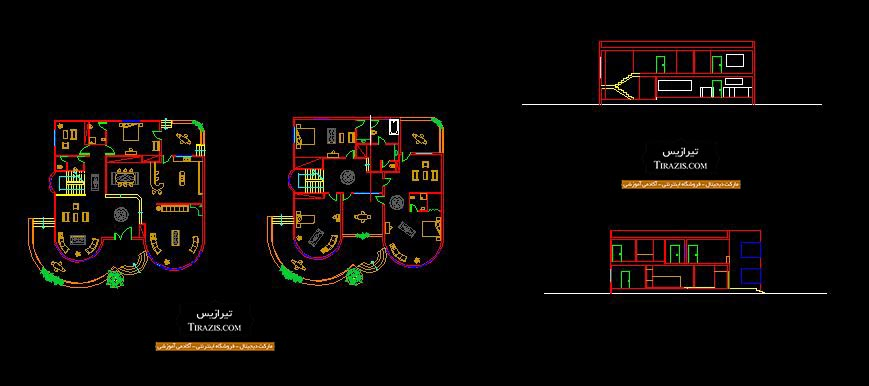 دانلود پلان و سه بعدی ویلا دو طبقه