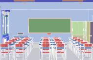 طرح سه بعدی کلاس درس