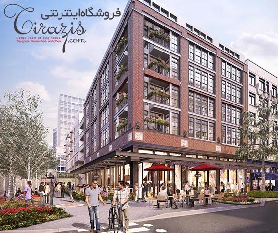 آپارتمان مسکونی تجاری - نقشه های معماری و سازه