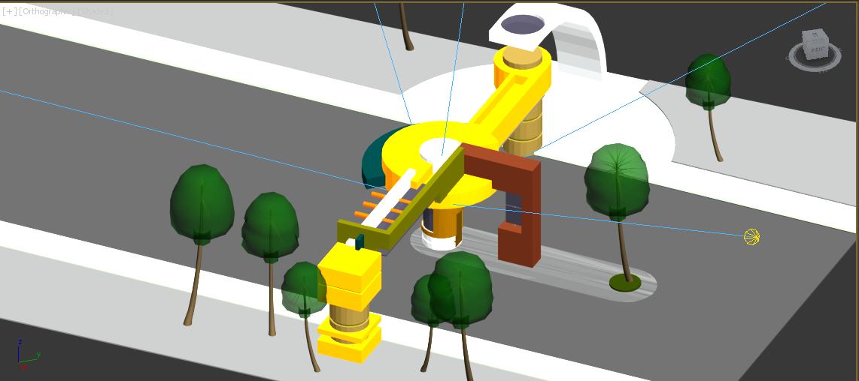 طراحی سه بعدی گیت ورودی