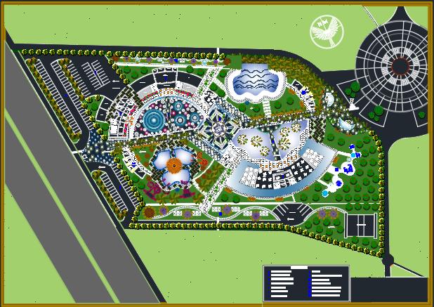 دانلود پروژه رایگان اتوکد پارک آبی